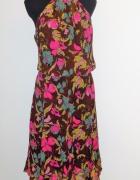 44 46 Jedwabna letnia suknia jedwab
