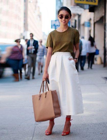 Codzienne Biała spódnica
