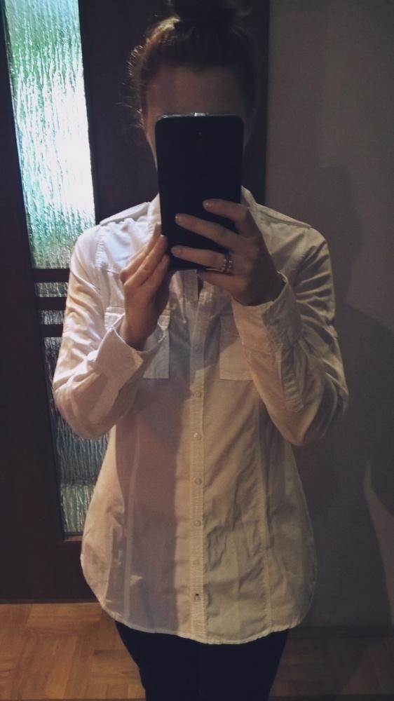 Koszule Śnieżnobiała koszula tunika House M