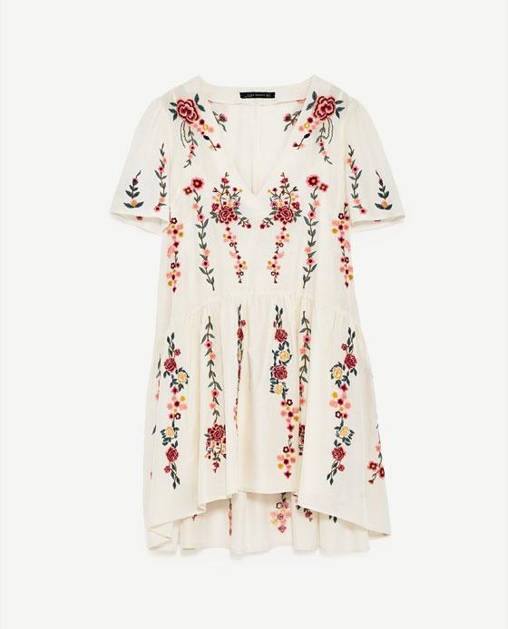 Ubrania Szukam sukienki firma ZARA hafty