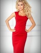 jokastyl ołówkowa sukienka czerwona XL