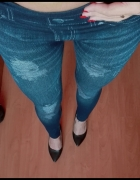 Leginsy jeansowe