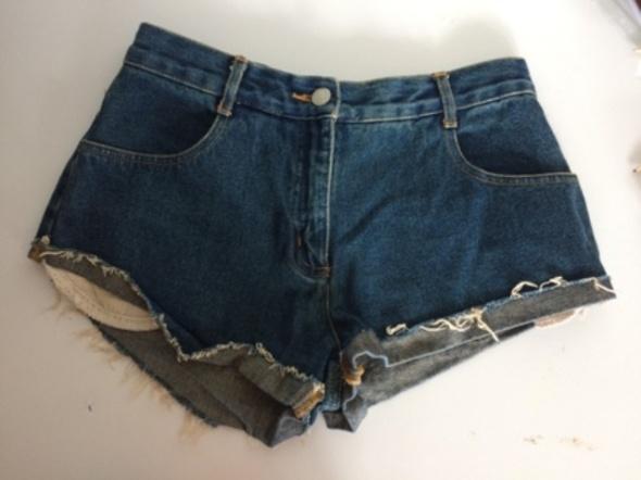 Spodenki Krókie spodenki jeansowe MUST HAVE wysoki stan