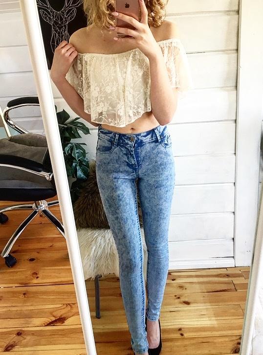 Spodnie Spodnie z wysokim stanem