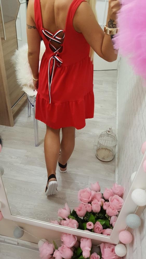 Codzienne love beauty red wiązane plecki