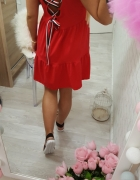 love beauty red wiązane plecki...