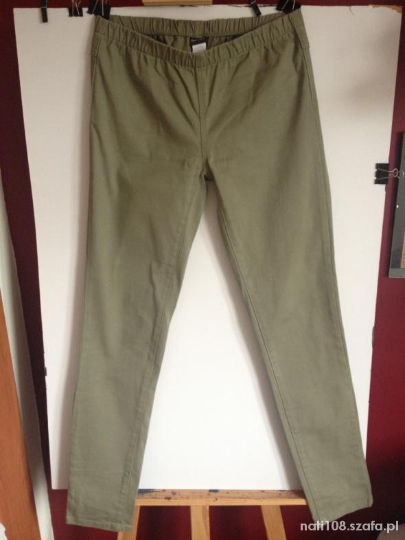 Legginsy Zielone legginsy jeansowe Pieces Accessories rozm