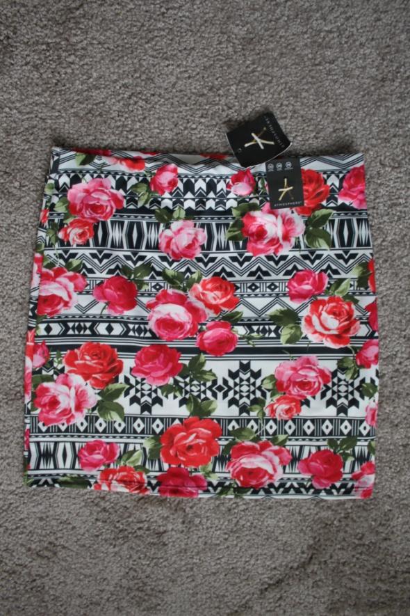 nowa spódniczka mini Atmosphere kwiaty roz M 38