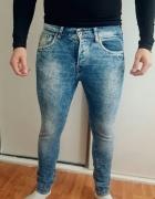 Spodnie jeansowe rurki skinny low waist hm roz m