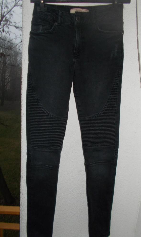 bershka denim biker jeans spodnie rurki pull&bear...