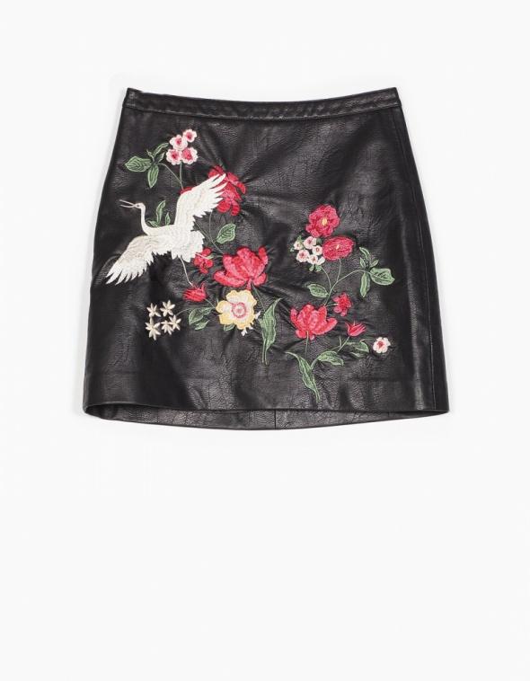 Spódnice Spódnica haftowana Stradivarius