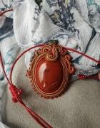 Naszyjnik KLARA z jaspisem czerwonym