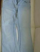 spodnie dżinsowe jasne damskie tanio