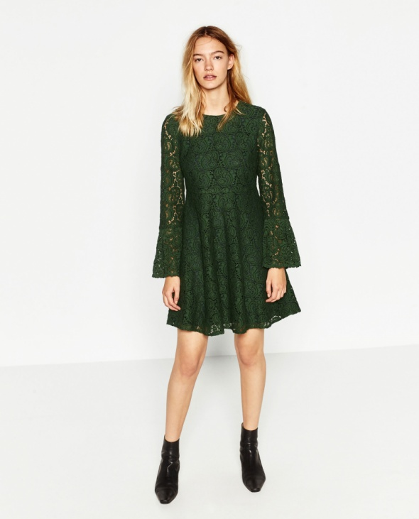 sukienka zielona zara...
