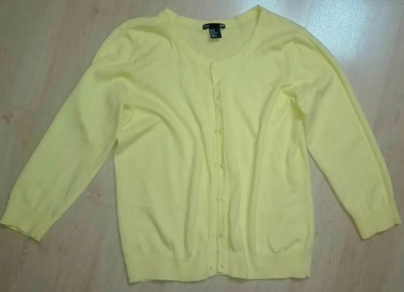 Swetry Żółty rozpinany sweterek