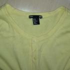 Żółty rozpinany sweterek