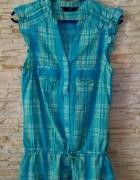 miętowa koszula bez rękawów na lato