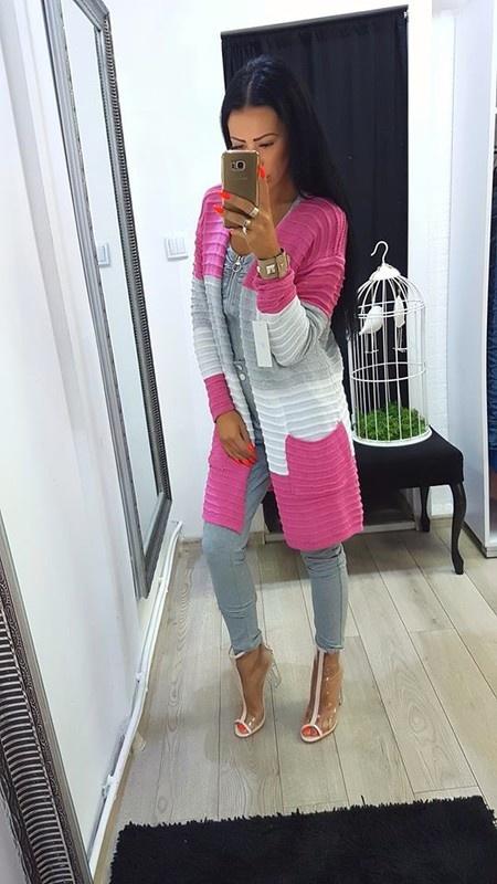 Sweter długi kolorowy Swetry Ubrania