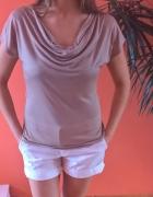 bluzka HM z żabotowym dekoltem elegancka