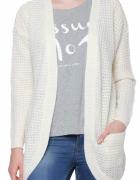 Sinsay sweter kardigan S nowy z metką beżowy