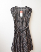 C&A nowa sukienka w kratę kratkę midi 34 36...