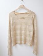 OLSEN sweter beżowy ażurowy 38 40...