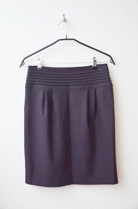 Spódnice Orsay elegancka spódnica ciemny fiolet 34 36
