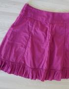 Rozkloszowana spódnica z falbaną...