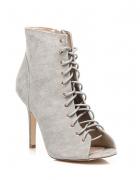 nowe sandaly botki sznurowane szare