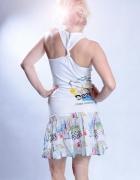 biała sportowa sukienka desigual...