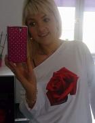 Oversize bluzka z różą
