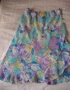 Sliczna spodniczka floral 40 42 w kwiaty