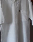 biała koszula krótki rękaw xxxl