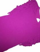 CONLEYS purple bluzka fuksja falbanki Viskoza 36