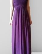 Sukienka maxi fioletowa xs
