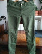 spodnie proste jeansy Zara