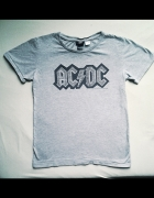 Koszulka z zespołem AC DC H&M szara z dżetami