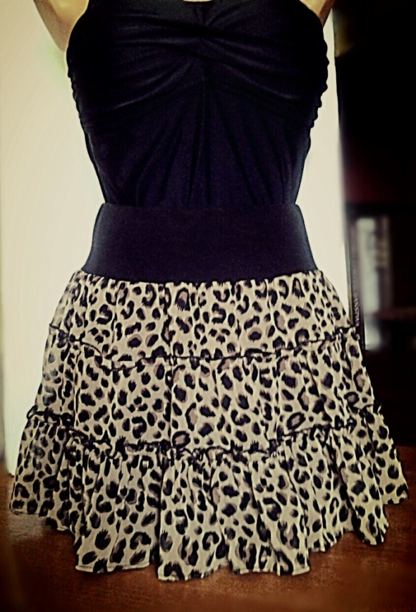 Spódnice Spódnica panterka z falbankami