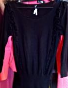 czarny sweterek next falbanka XS S...