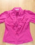 COCOMORE rozowa żabot bufki piekna bluzka rL