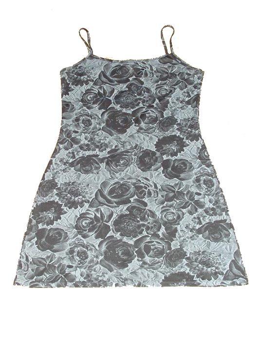 Suknie i sukienki gotycka floral kwiaty gothic punk sukienka w róże