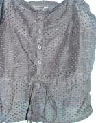 H&M jedwabna bluzka retro vintage gotycka czarna