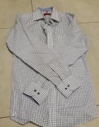 Koszula biała w czarną kratę WILLSOOR