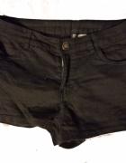 spodenki czarne szorty krótkie 34 XS h&m zara