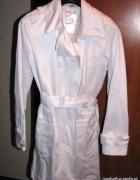 NOWY XL XXL biały elegancki płaszcz trencz