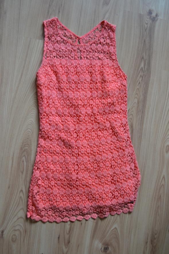 Suknie i sukienki Sukienka Hollister morelowa jasna 36 S