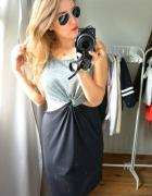 Sukienka H&M szara glam