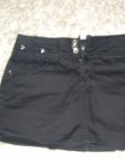 czarna spódniczka z dżetami