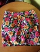 Spódnica kolorowa w kwiatki
