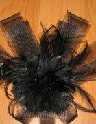 Woalka z piórami stroik do włosów...